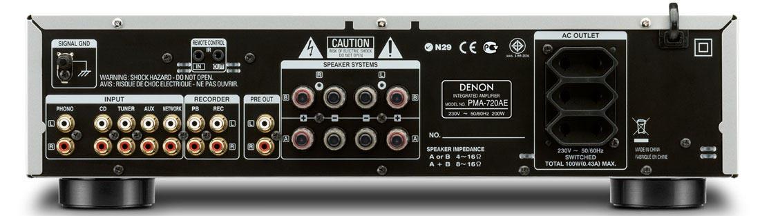 Стереоусилитель Denon PMA-720AE BL