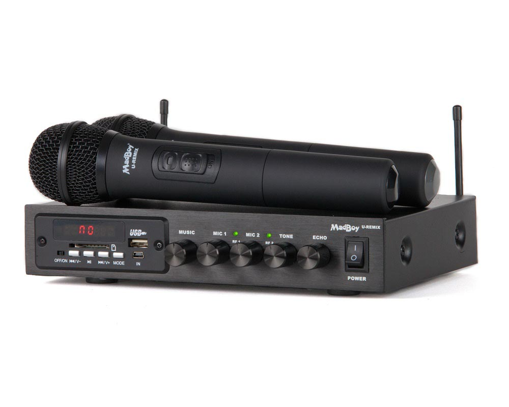 Микшер+2 беспроводных микрофона Madboy U-REMIX фото 3