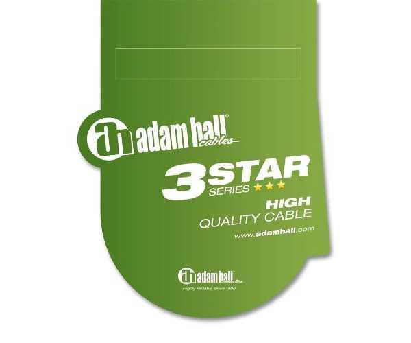 Кабель Adam Hall серии «3 Звезды» с разъемом 6,3 мм Jack моно к 6,3 мм Jack моно 3 м
