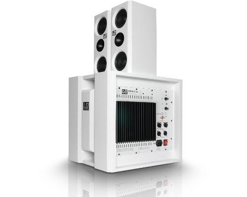 Компактная активная акустическая система, белая