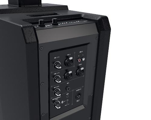 Компактная активная акустическая колонна со встроенным микшером и Bluetooth, черная