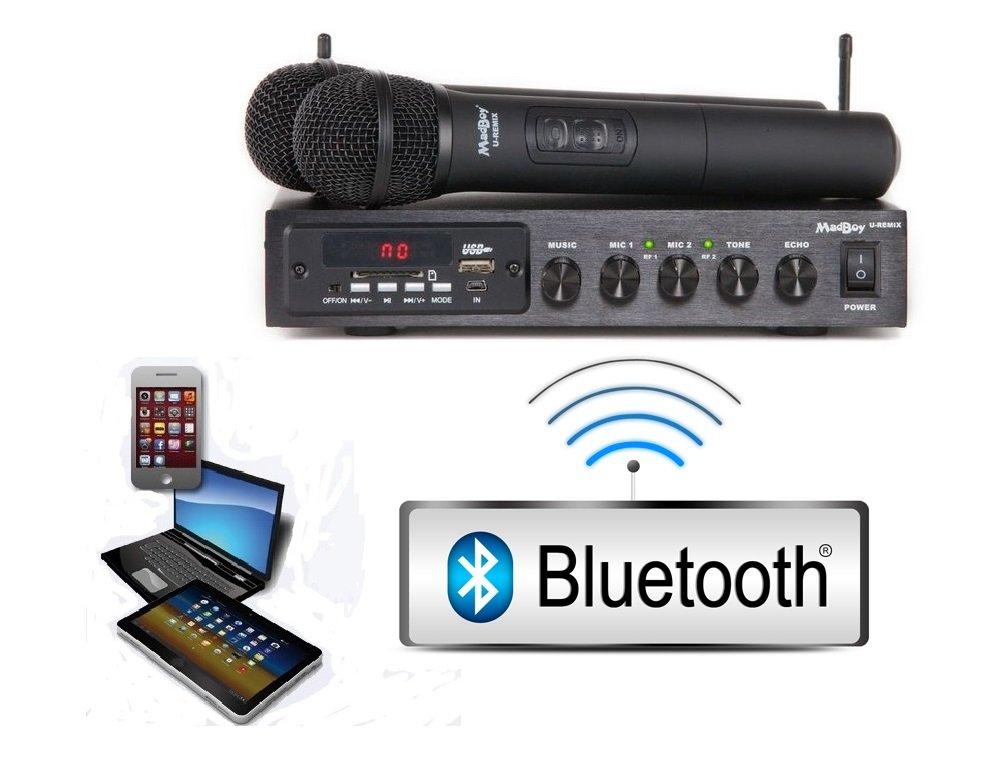 Микшер с двумя беспроводными микрофонами Madboy U-REMIX (выставочный образец)