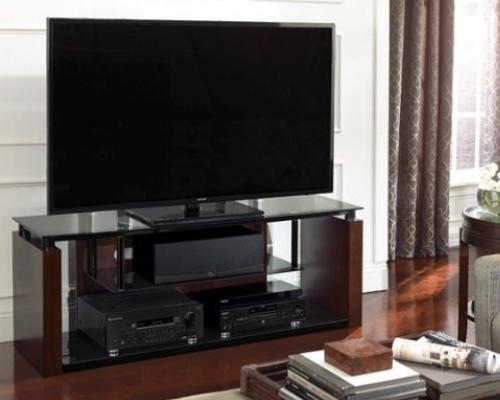 Аудио-Видео стойка для ТВ в цвете «эспрессо»