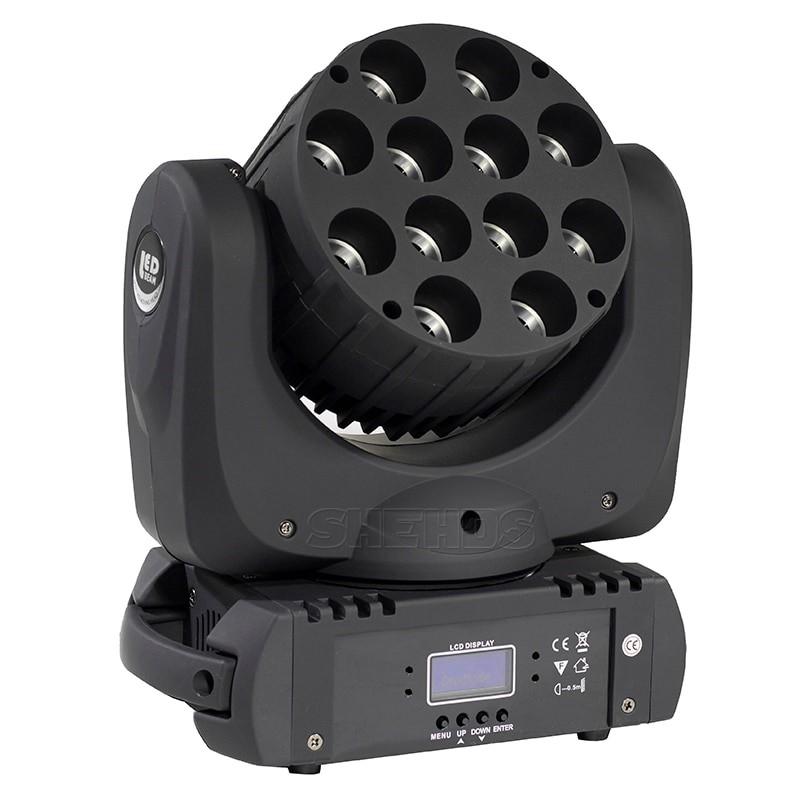 Светодиодная вращающаяся голова Active Light Wash 12*12w RGBW с узким лучом